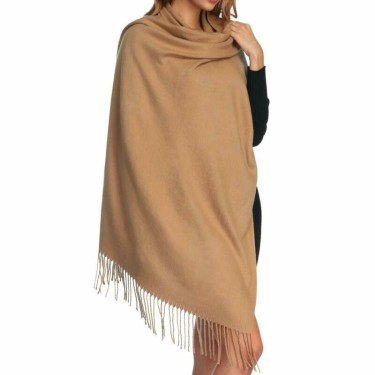 Aone Women's Thick Soft Cashmere Wool Pashmina Shawl Wrap Scarf-min