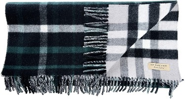 Burberry Wool Cashmere Multi-Color Checkered Fringes Decorated Unisex Scarf-min