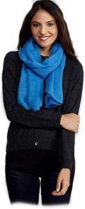 Eileen Fisher Italian Gauzy Wool NEPTUNE Blue Wrap Scarf-min