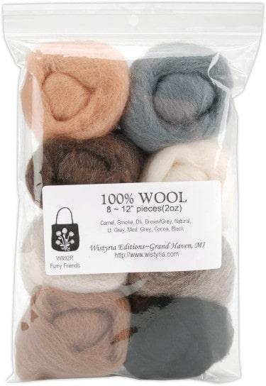 Wool Roving 8-PackFurry Friends